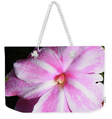 Candy Cane Impatiens Weekender Tote Bag by Barbara Griffin