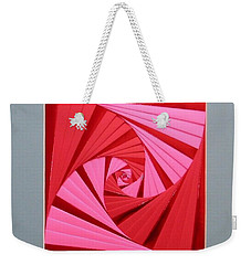 Candy Cane Weekender Tote Bag by Ron Davidson