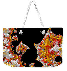 Weekender Tote Bag featuring the digital art Candy Corn by Susan Maxwell Schmidt