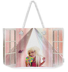 Weekender Tote Bag featuring the digital art Candy Kisses by Liane Wright