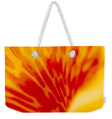 Weekender Tote Bag featuring the photograph Canna Lilly by Michael Hoard