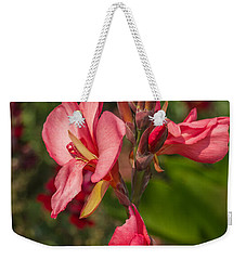 Canna Lily Weekender Tote Bag by Jane Luxton