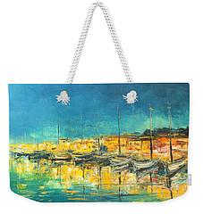 Cannes By Night Weekender Tote Bag