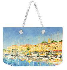Cannes Harbour Weekender Tote Bag