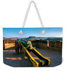 Cannon At The Fortress Koenigstein Weekender Tote Bag