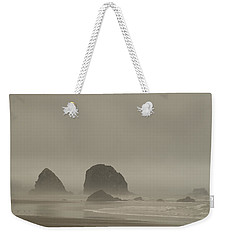 Cannon Beach In A Fog Oregon Weekender Tote Bag