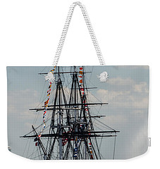 Weekender Tote Bag featuring the photograph Cannon Fire by Mike Ste Marie