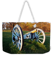 Cannon In The Grass Weekender Tote Bag by Michael Porchik