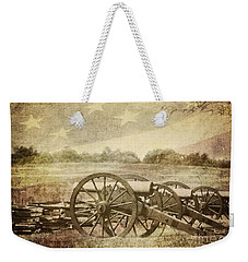 Cannons At Pea Ridge Weekender Tote Bag