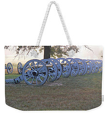 Cannon's In Fog Weekender Tote Bag by Michael Porchik
