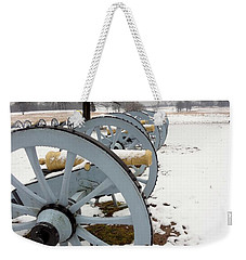 Cannon's In The Snow Weekender Tote Bag by Michael Porchik