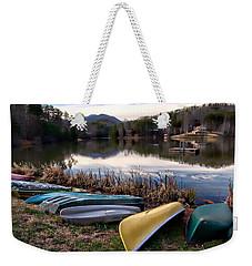 Canoes In Nc Weekender Tote Bag