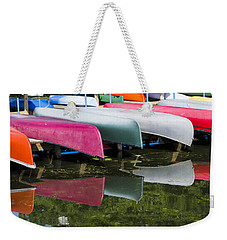 canoes - Lake Wingra - Madison  Weekender Tote Bag