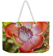 Cannonball Tree Flower Hawaii Weekender Tote Bag by Venetia Featherstone-Witty