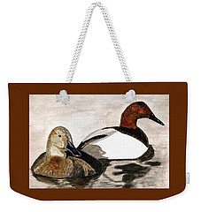 Canvasback Couple Weekender Tote Bag