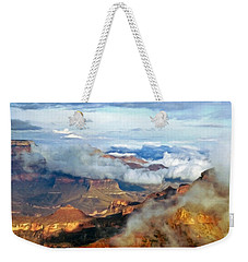 Weekender Tote Bag featuring the photograph Canyon Clouds by Alan Socolik