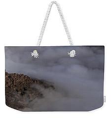 Canyon Rims Float In Fog Weekender Tote Bag