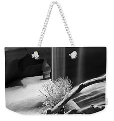 Weekender Tote Bag featuring the photograph Canyon Sandfall by Bryan Keil