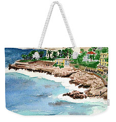 Cap D'ail On A Rainy Day Weekender Tote Bag