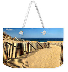 Weekender Tote Bag featuring the photograph Cape Cod Beach by Mitchell R Grosky