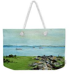 Cape Cod  Boats Weekender Tote Bag by Judith Rhue