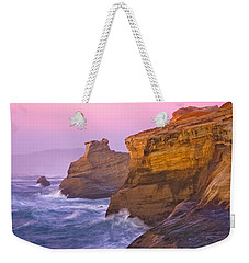 Cape Kiwanda At Sunset Weekender Tote Bag by Patricia Davidson