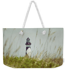 Cape Lookout Lighthouse - Vintage Weekender Tote Bag by Kerri Farley