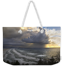Weekender Tote Bag featuring the photograph Sunset At Cape Lookout Oregon Coast by Yulia Kazansky
