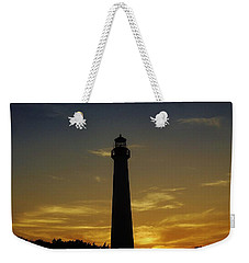 Cape May Lighthouse At Sunset Weekender Tote Bag by Ed Sweeney