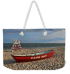 Cape May N J Rescue Boat Weekender Tote Bag