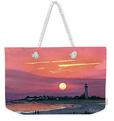 Cape May Sunset Weekender Tote Bag by Barbara Jewell