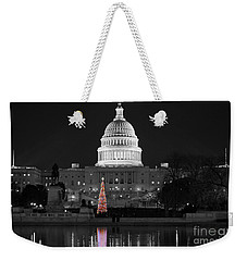 Weekender Tote Bag featuring the photograph Capitol Christmas by Shawn O'Brien