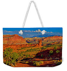 Weekender Tote Bag featuring the photograph Capitol Reef Landscape by Greg Norrell
