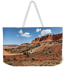 Weekender Tote Bag featuring the photograph Capitol Reef Panorama No. 1 by Tammy Wetzel