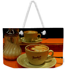 Cappuccino Weekender Tote Bag by Caroline Stella