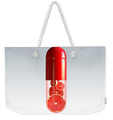 Capsule With Citrus Fruit Weekender Tote Bag by Johan Swanepoel