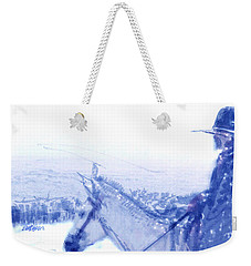 Capt. Call In A Snow Storm Weekender Tote Bag by Seth Weaver