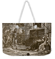 Capture Of Bruces Wife And Daughter Weekender Tote Bag by Charles Ricketts