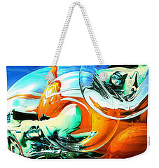 Car Fandango - Abstract Art Weekender Tote Bag by Art America Gallery Peter Potter