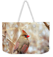 Cardinal Birds Female Weekender Tote Bag by Peggy Franz