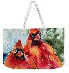 Cardinal Birds Weekender Tote Bag
