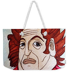 Weekender Tote Bag featuring the painting Serious Cardinal by Don Pedro De Gracia