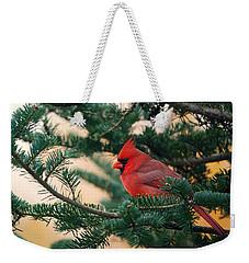 Cardinal In Balsam Weekender Tote Bag