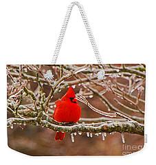 Cardinal Weekender Tote Bag by Mary Carol Story
