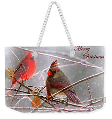 Cardinals - Male And Female - Img_003card Weekender Tote Bag