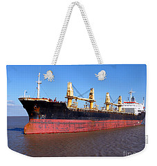 Cargo Ship Weekender Tote Bag