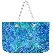 Caribbean Blue Abstract Weekender Tote Bag
