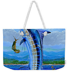 Caribbean Blue Off0041 Weekender Tote Bag by Carey Chen