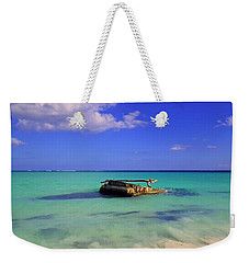 Weekender Tote Bag featuring the photograph Caribbean Colors  by Eti Reid
