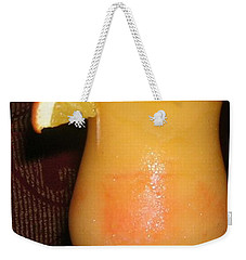 Weekender Tote Bag featuring the photograph Caribbean Fuzzy Peach Naval by Emmy Marie Vickers
